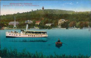 Ansichtskarte Woltersdorf Woltersdorfer Schleuse, Dampfer 1917