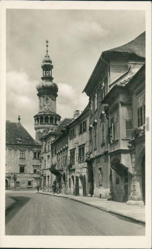 Ansichtskarte Ödenburg Sopron Straßenpartie 1934