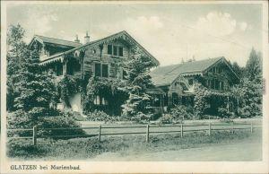 Ansichtskarte Glatzen-Marienbad Kladská Mariánské Lázně Hausansicht 1920