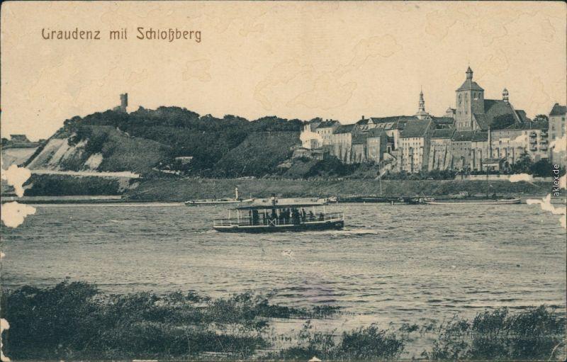 Ansichtskarte Graudenz Grudziądz Schloßberg 1914