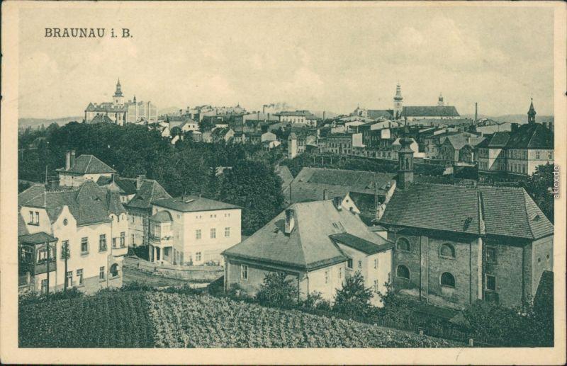 Ansichtskarte Braunau Broumov Blick auf die Stadt 1920