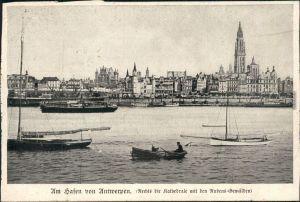 Ansichtskarte Antwerpen Anvers Hafen 1916