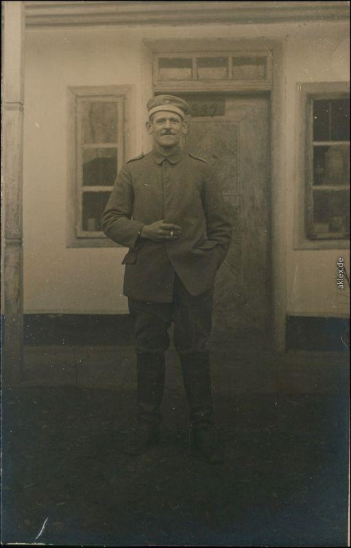 Ansichtskarte  Soldaten-Porträts 1. Weltkrieg - Mannschaftsdienstgrad 1916