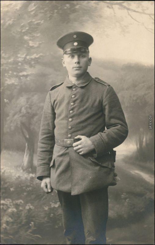Ansichtskarte  Soldaten-Porträts 1. Weltkrieg - Militaria Patriotika 1916