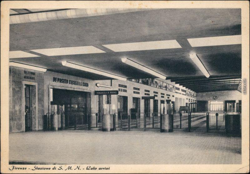 Florenz Firenze Bahnhof - Stazione di S. M. N. - Innenansicht 1934
