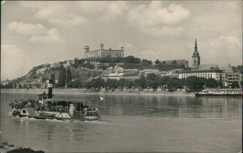 Ansichtskarte Pressburg Bratislava Blick auf die Stadt - Dampfer 1966