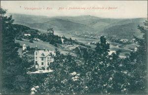 Ansichtskarte Hasserode-Wernigerode Blick auf Stadt und Hotel 1908