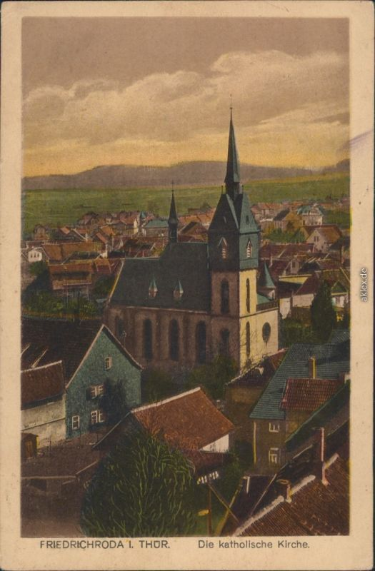 Ansichtskarte Friedrichroda Katholische Kirche 1925