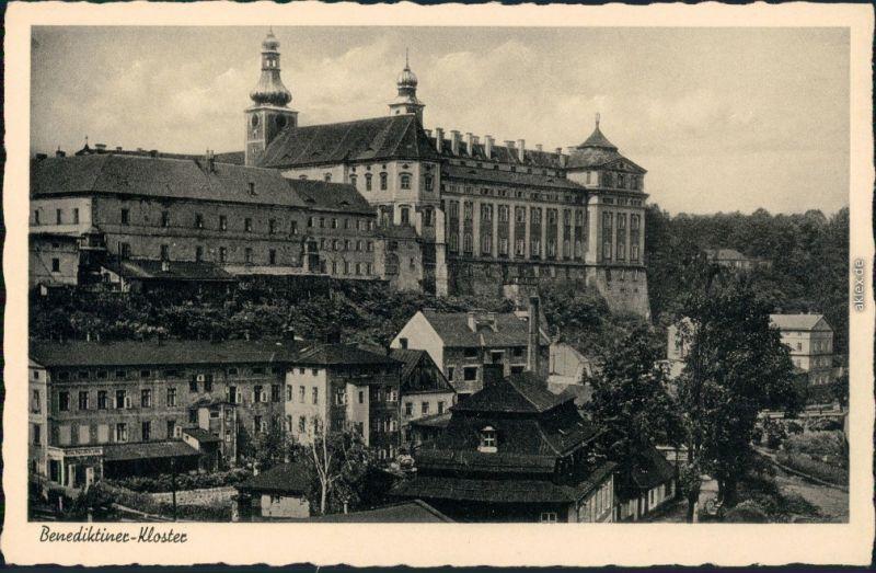 Ansichtskarte Braunau Broumov Benediktiner-Kloster 1938