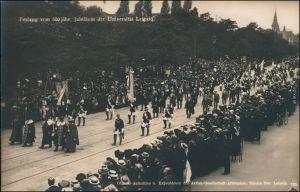 Ansichtskarte Leipzig Festumzug 500-jähriges Jubiläum der Universität 6 1909