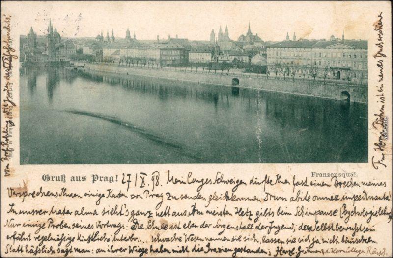 Ansichtskarte Prag Praha Blick auf die Stadt 1898