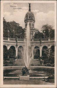 Ansichtskarte Breslau Wrocław Liebichshöhe 1923