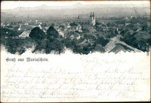 Ansichtskarte Mariaschein-Graupen Bohosudov Krupka Blick auf die Stadt 1898