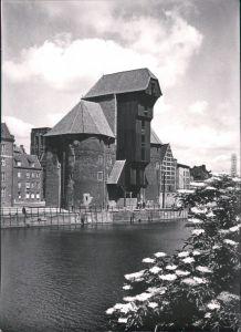 Ansichtskarte Danzig Gdańsk/Gduńsk Krantor/Krahntor 1963