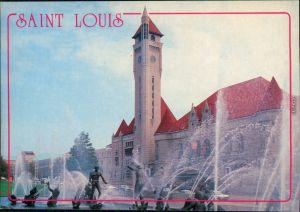 Ansichtskarte Saint Louis The Union Station / Bahnhof mit Springbrunnen 1990