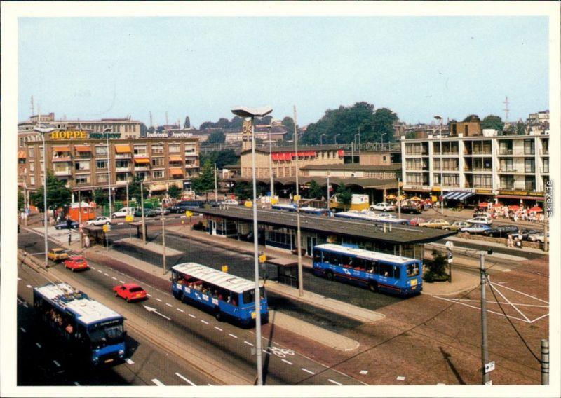 Ansichtskarte Arnheim Arnhem Bahnhof / Stationsplein 1986