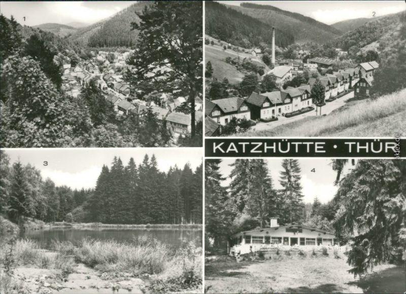 Katzhütte (Schwarzatal  Bahnhofstraße, Reichenbacher Teich, Waldgaststätte 1983