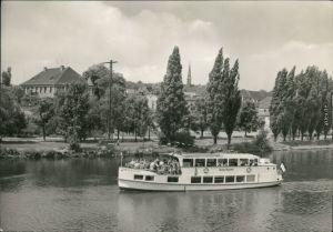 Ansichtskarte Alsleben (Saale) Fahrgastschiff MS Merseburg 1971