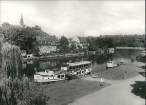 Ansichtskarte Halle (Saale) Dampferanlegestelle 1977