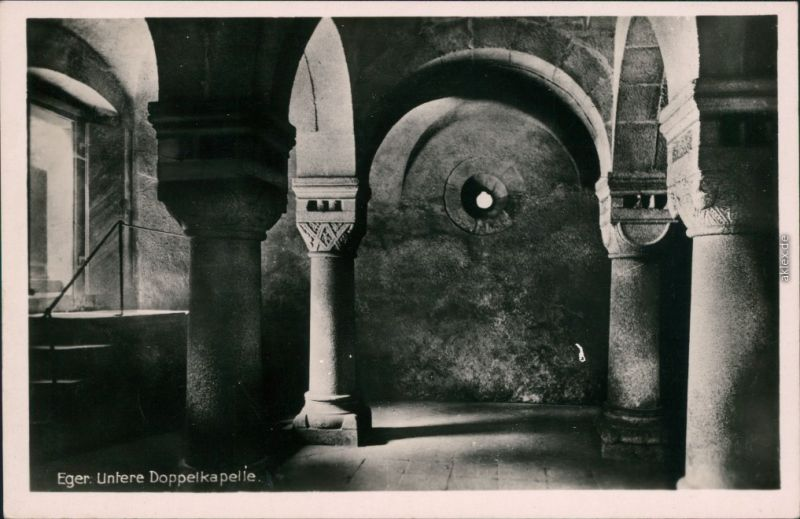 Foto Eger Cheb Untere Doppelkapelle - Kaiserburg 1932 Privatfoto