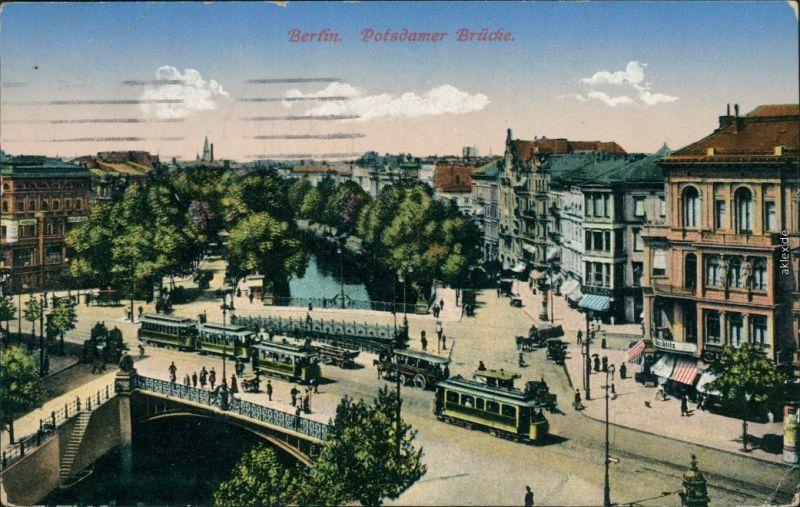 Ansichtskarte Tiergarten-Berlin Potsdamer Brücke 1916