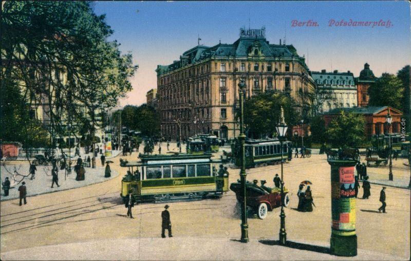 Ansichtskarte Tiergarten-Berlin Potsdamer Platz 1915