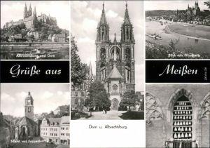 Meißen Albrechtsburg, Dom, Markt, Frauenkirche, Glockenspiel 1975