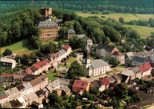 Ansichtskarte Frauenstein (Erzgebirge) Panorama 1995