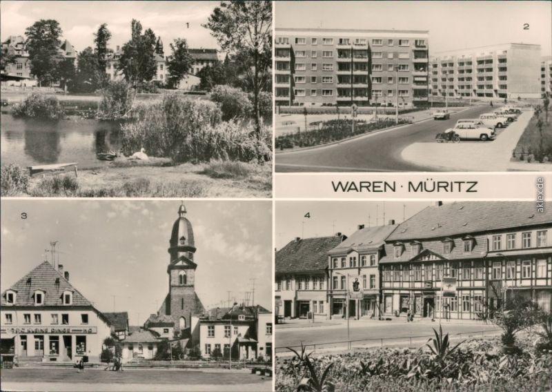 Waren (Müritz) Altstadt, Hans-Beimler-Straße, Marienkirche, Markt 1980