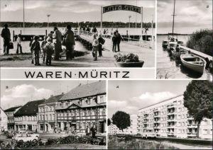 Waren (Müritz) Kietzbrücke, an der Müritz, Markt, Neubauten 1981
