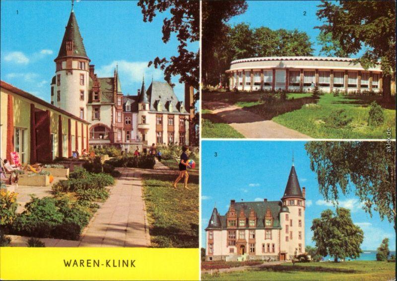 Klink (Müritz) Schloß, Rundgaststätte an der Müritz Ansichtskarte 1981