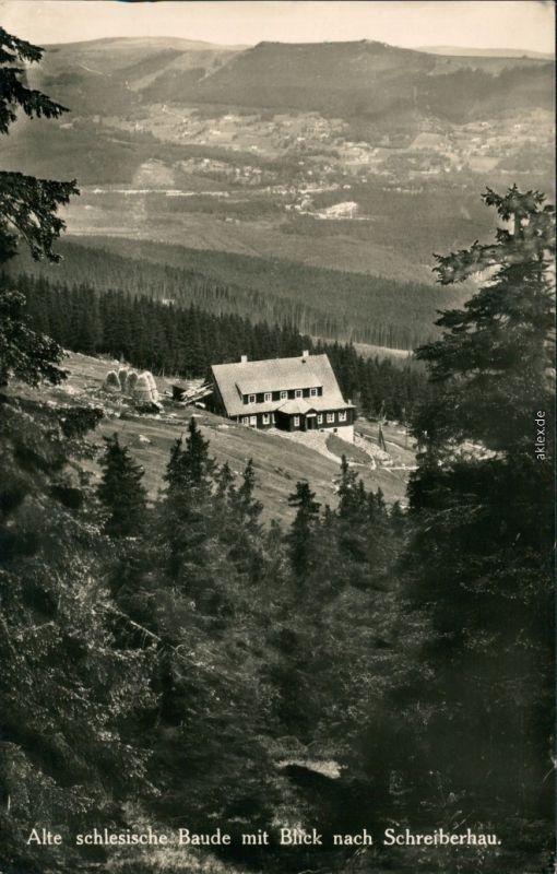 Schreiberhau Szklarska Poręba Blick auf die schlesische Baude 1929