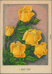 Ansichtskarte  Künstlerkarte - Blumen 1948