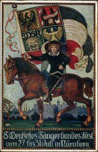 Ansichtskarte Nürnberg Künstlerkarte - Deutsches Sängerbundes Fest 1912