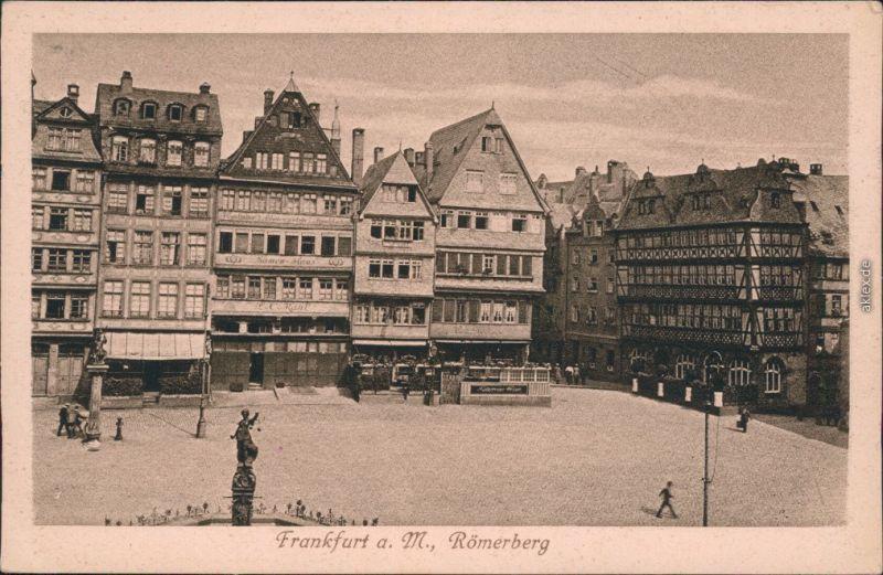 Ansichtskarte Frankfurt am Main Römerberg 1925