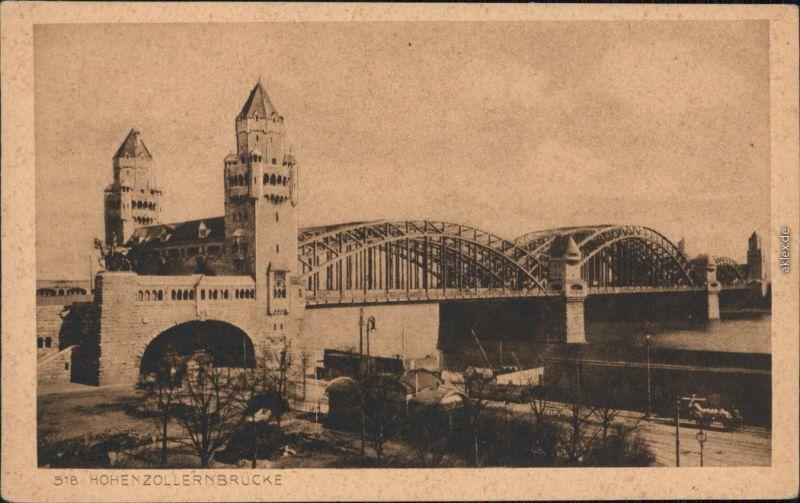 Ansichtskarte Köln Hohenzollernbrücke 1928