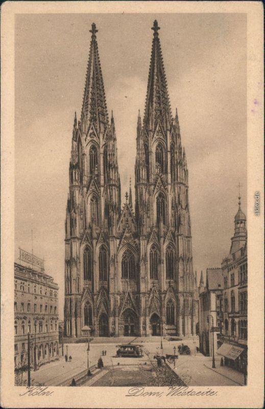 Ansichtskarte Köln Kölner Dom 1928