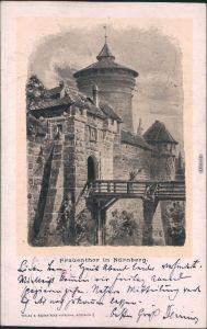 Ansichtskarte Nürnberg Künstlerkarte: Frauentor 1898