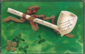 Glückwunsch / Grusskarten: Allgemein - Erin go Bragh 1908 Prägekarte