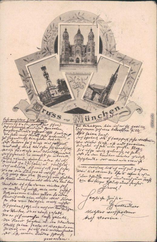 München Neue St. Lucas Kirche, St. Matthäus Kirche, St. Markus-Kirche 1897