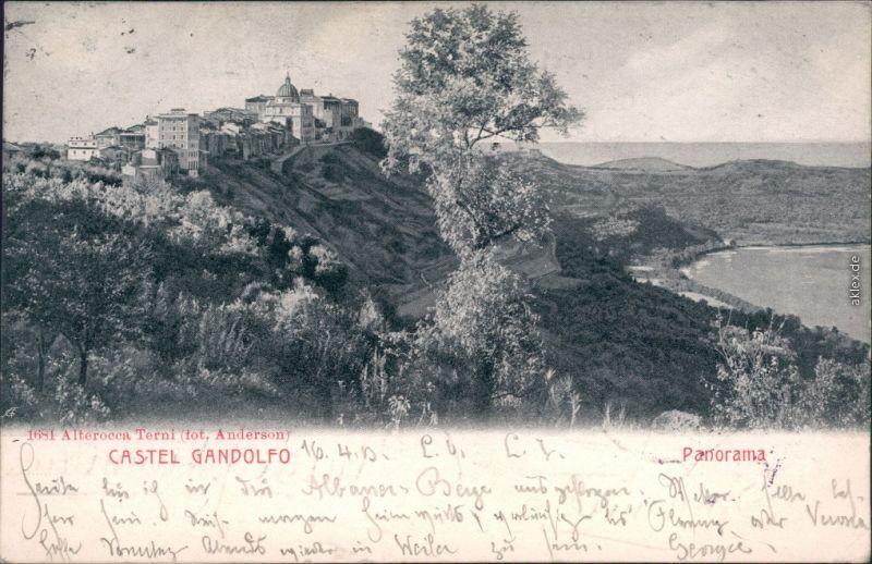 Ansichtskarte Castel Gandolfo Castel Gandolfo mit Panorama 1903