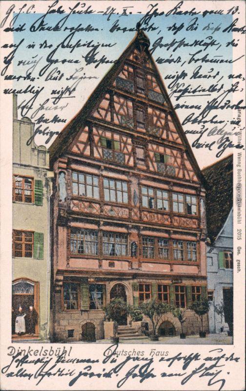Ansichtskarte Dinkelsbühl Deutsches Haus 1905