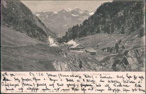 Vent-Sölden (Ötztal) Blick auf den Ort und den Stubaier Ferner 1902