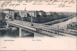 Ansichtskarte Saarbrücken Neue Brücke 1906