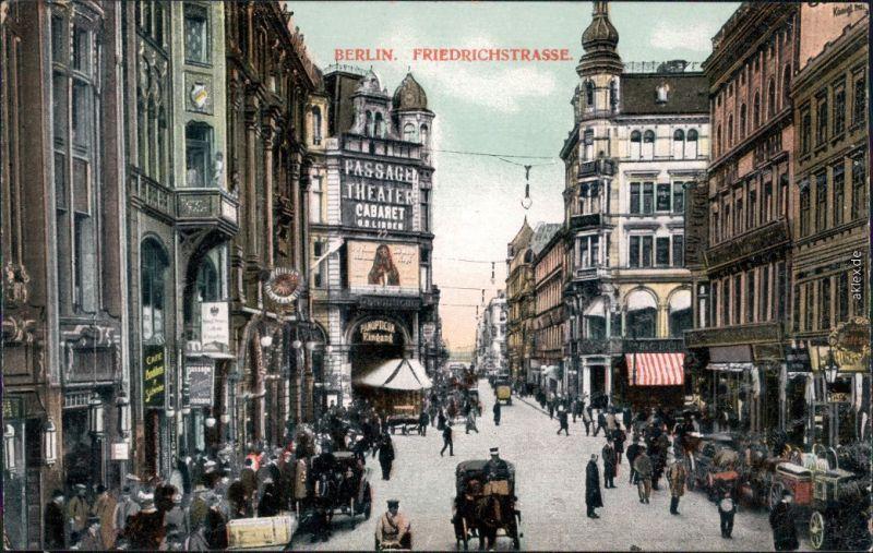 Ansichtskarte Mitte-Berlin Friedrichstraße Passage Theater  1908