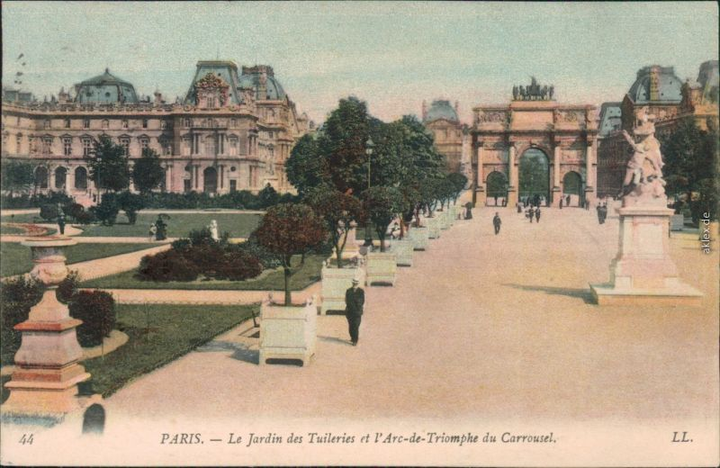 Paris Arc de Triomphe du Carrousel -Place du Carrousel, Park 1908
