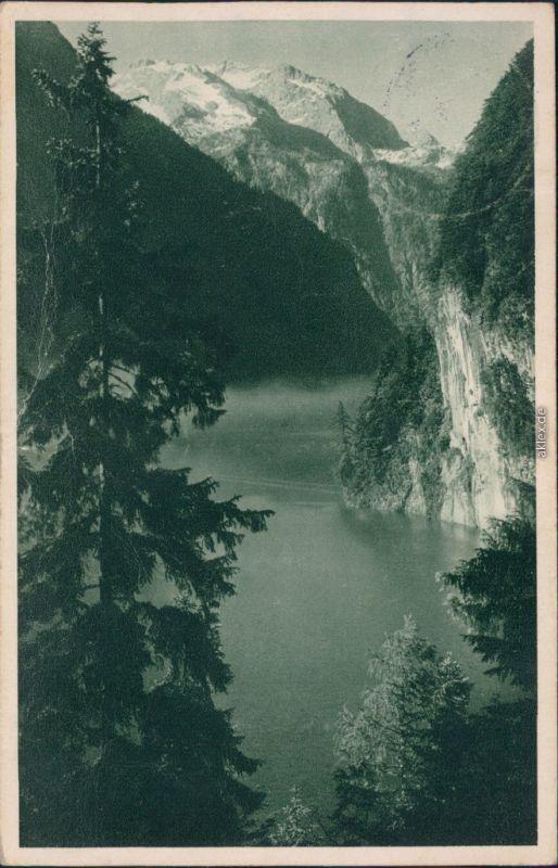 Ansichtskarte Schönau am Königssee Königssee vom Malerwinkel 1934