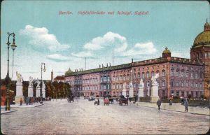 Berlin Schlossbrücke (Marx-Engels-Brücke ) mit Königl. Schloss 1914