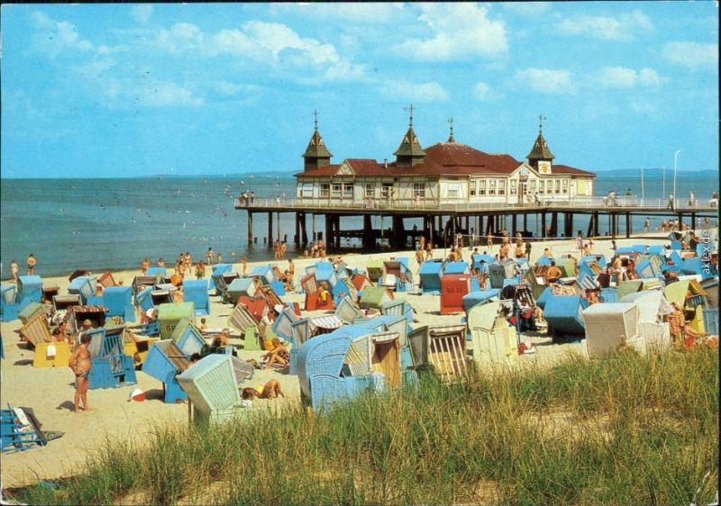 Ahlbeck (Usedom) Seebrücke Ansichtskarte g1985