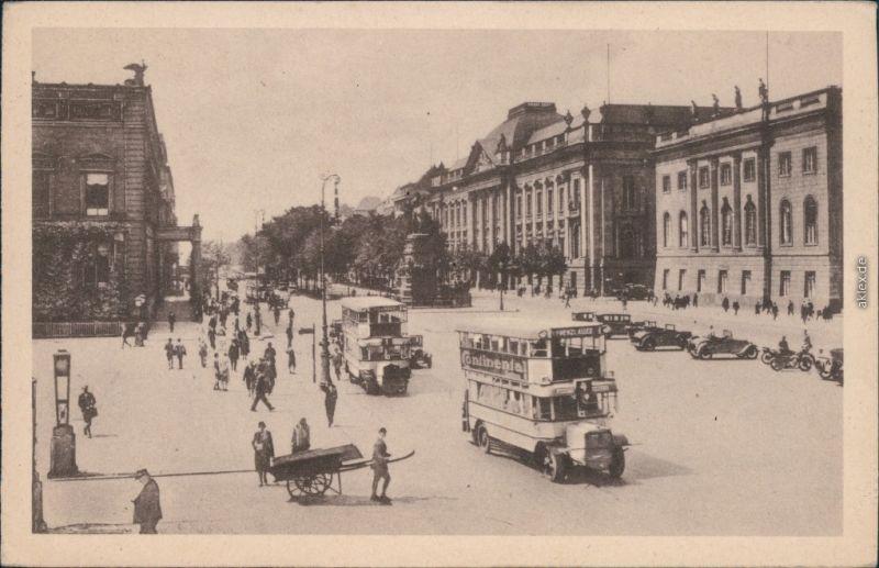 Ansichtskarte Mitte-Berlin Unter den Linden 1946